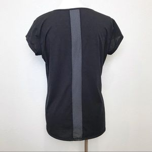 Athleta black short sleeve tee w/ mesh inserts